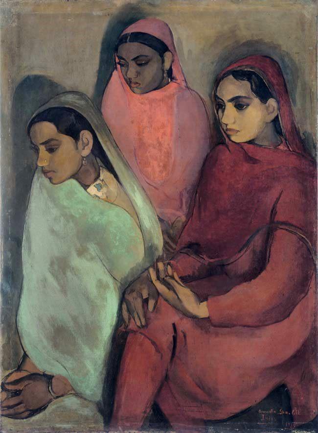 hoạ sĩ nổi tiếng 1 - Three Girls 1935 - elleman
