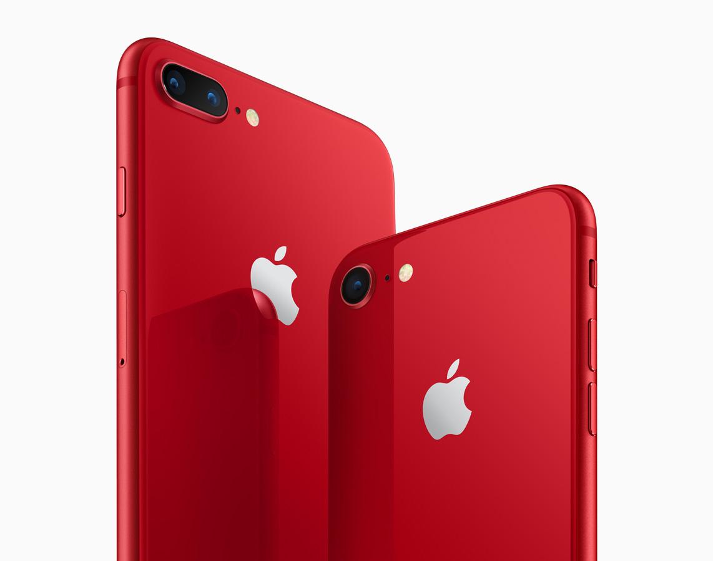 Công ty Apple ra mắt Iphone 8 và Iphone 8 Plus màu đỏ
