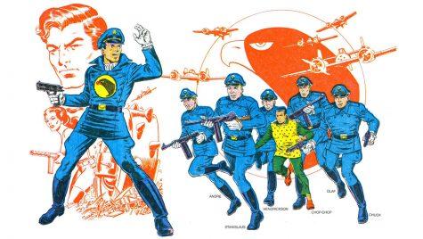 Nhân vật chính (cùng tên) của Blackhawk là lãnh đạo một nhóm phi công hàng đầu trong Thế chiến thứ 2