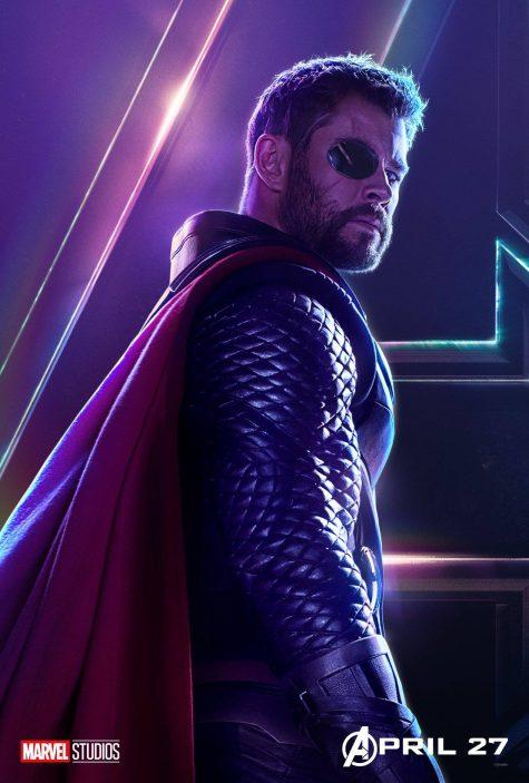 Hemsworth đã vươn lên giành vị trí thứ 2 trên poster Avengers: Infinity War. Ảnh: Marvel Studio