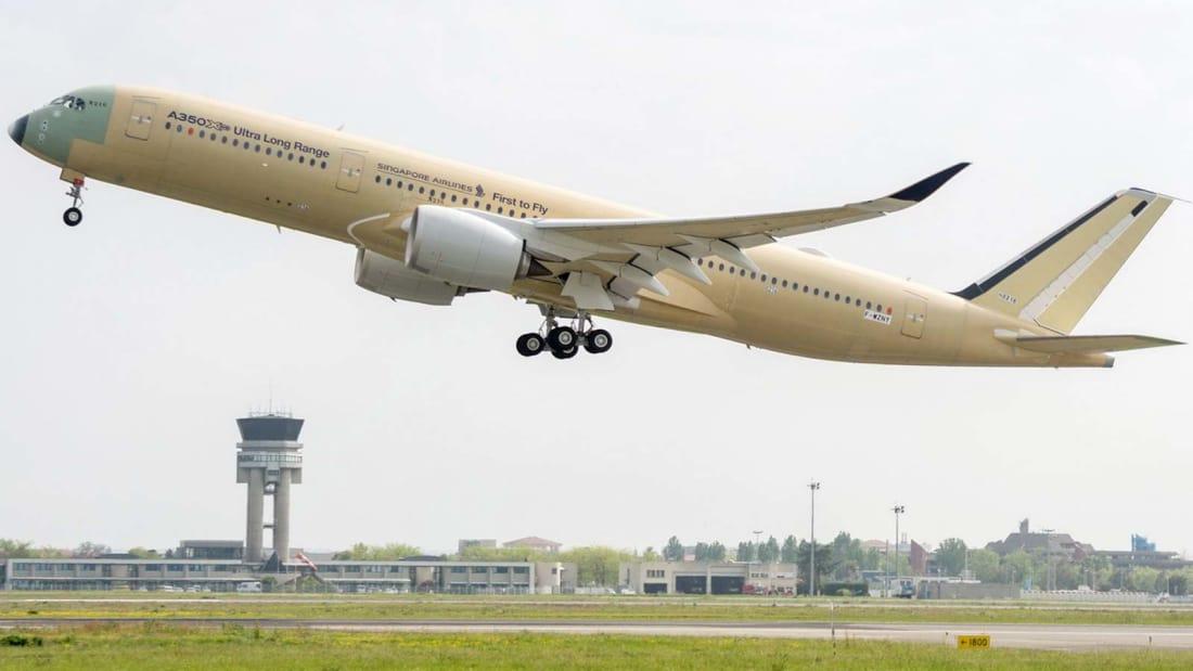 Máy bay Airbus A350-900ULR dự kiến có thể duy trì thời gian bay đến 20 tiếng
