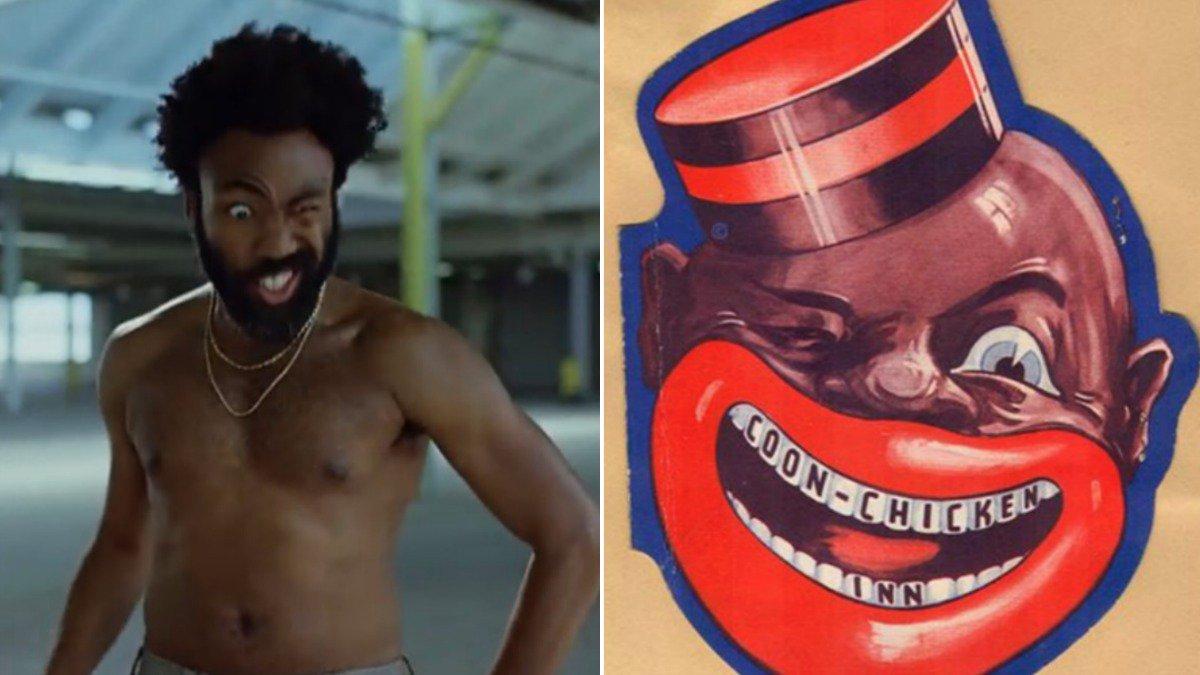 Tự thâm Donald Glover là một hình ảnh chấm biếm người da đen, và cũng là một hình ảnh ẩn dụ cho nước Mỹ.
