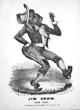Jim Crow là hình ảnh châm biếm người da đen từ những năm 80 và 90.