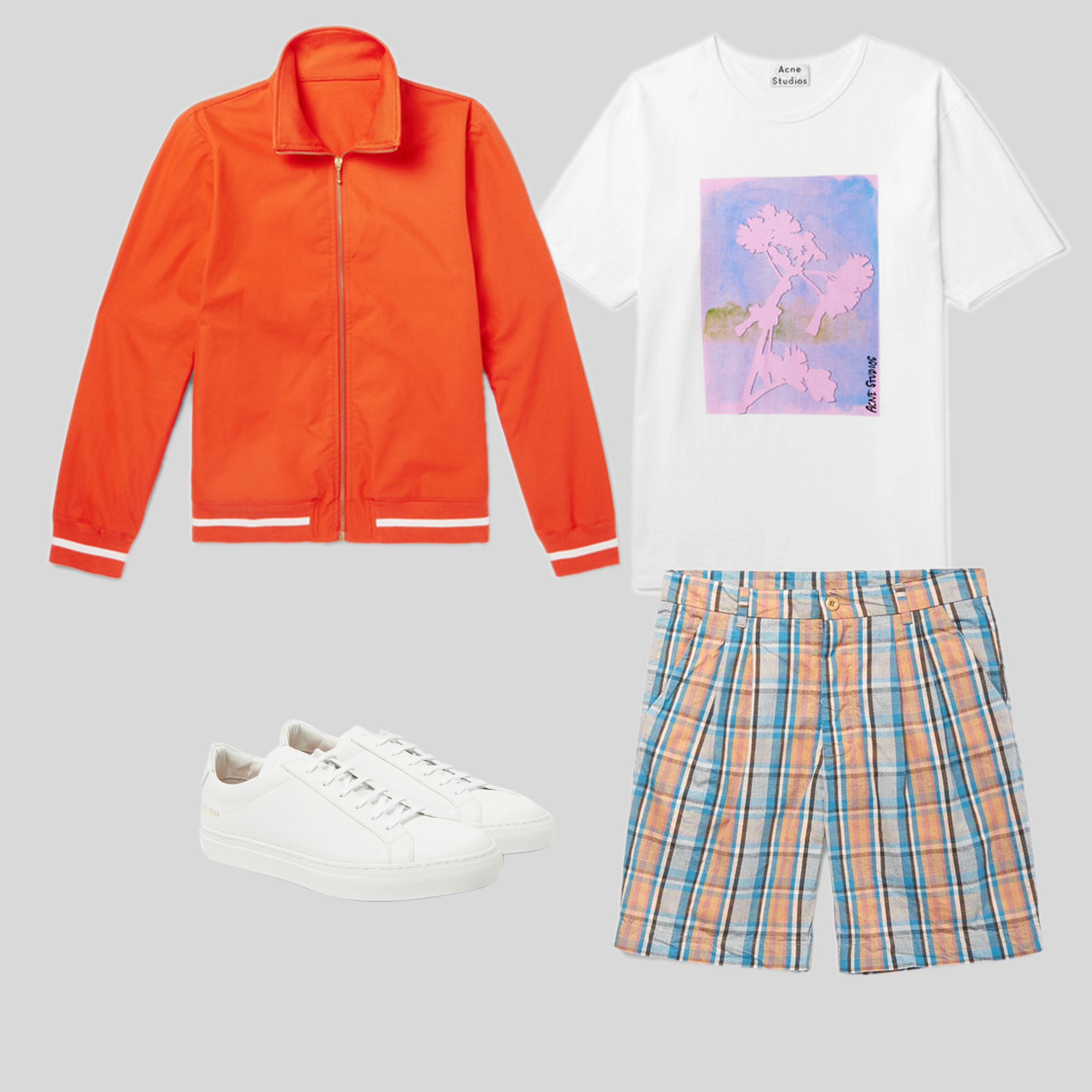 ELLE Man Style Calendar 'F5' phong cách với chiếc quần short đi biển. (1)