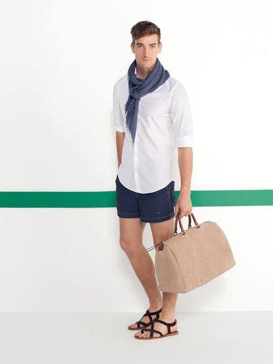 ELLE Man Style Calendar 'F5' phong cách với chiếc quần short đi biển. (16)