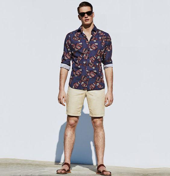 ELLE Man Style Calendar 'F5' phong cách với chiếc quần short đi biển. (19)