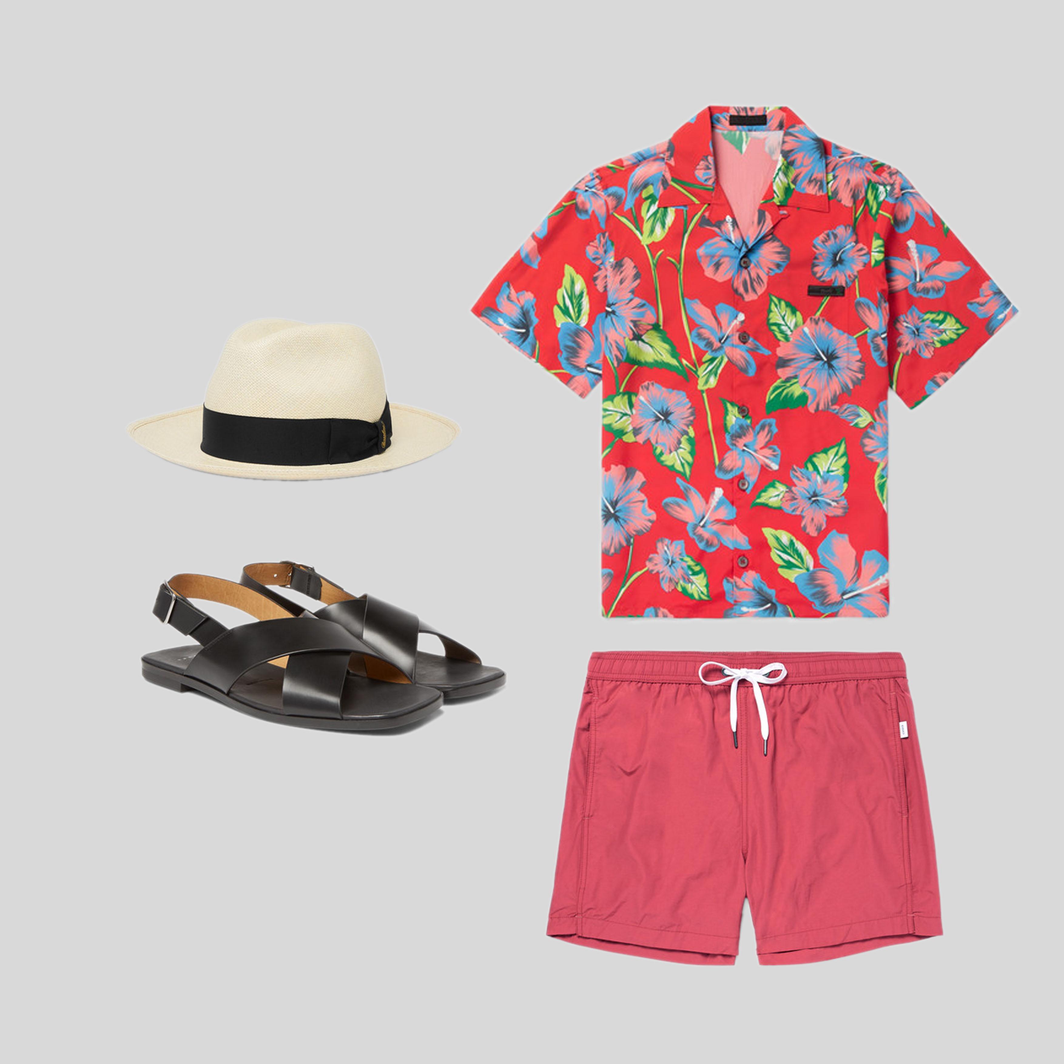 ELLE Man Style Calendar 'F5' phong cách với chiếc quần short đi biển. (2)
