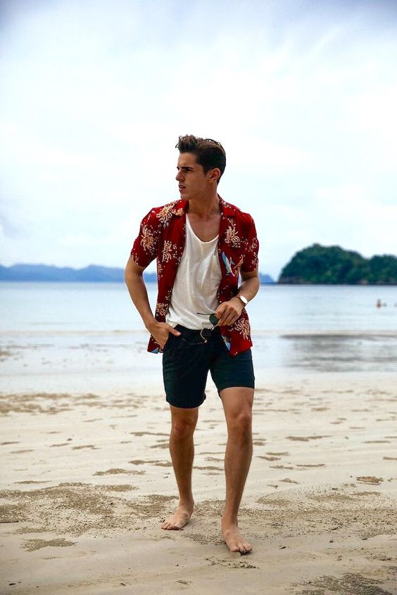 ELLE Man Style Calendar 'F5' phong cách với chiếc quần short đi biển. (21)