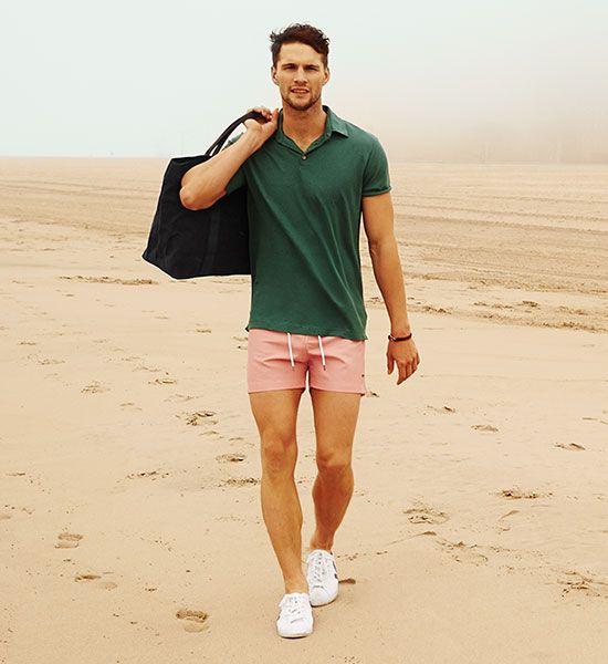 ELLE Man Style Calendar 'F5' phong cách với chiếc quần short đi biển. (22)