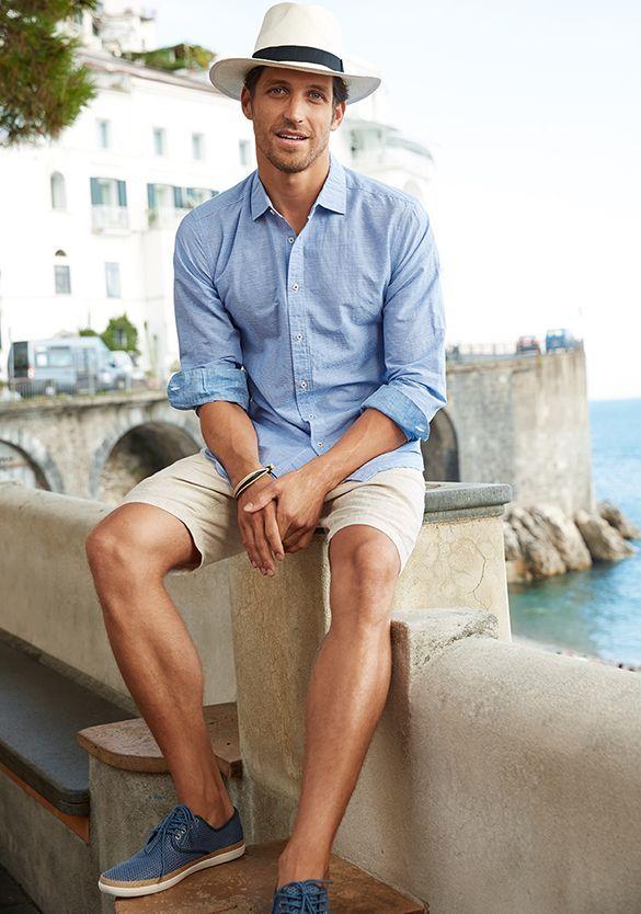 ELLE Man Style Calendar 'F5' phong cách với chiếc quần short đi biển. (26)