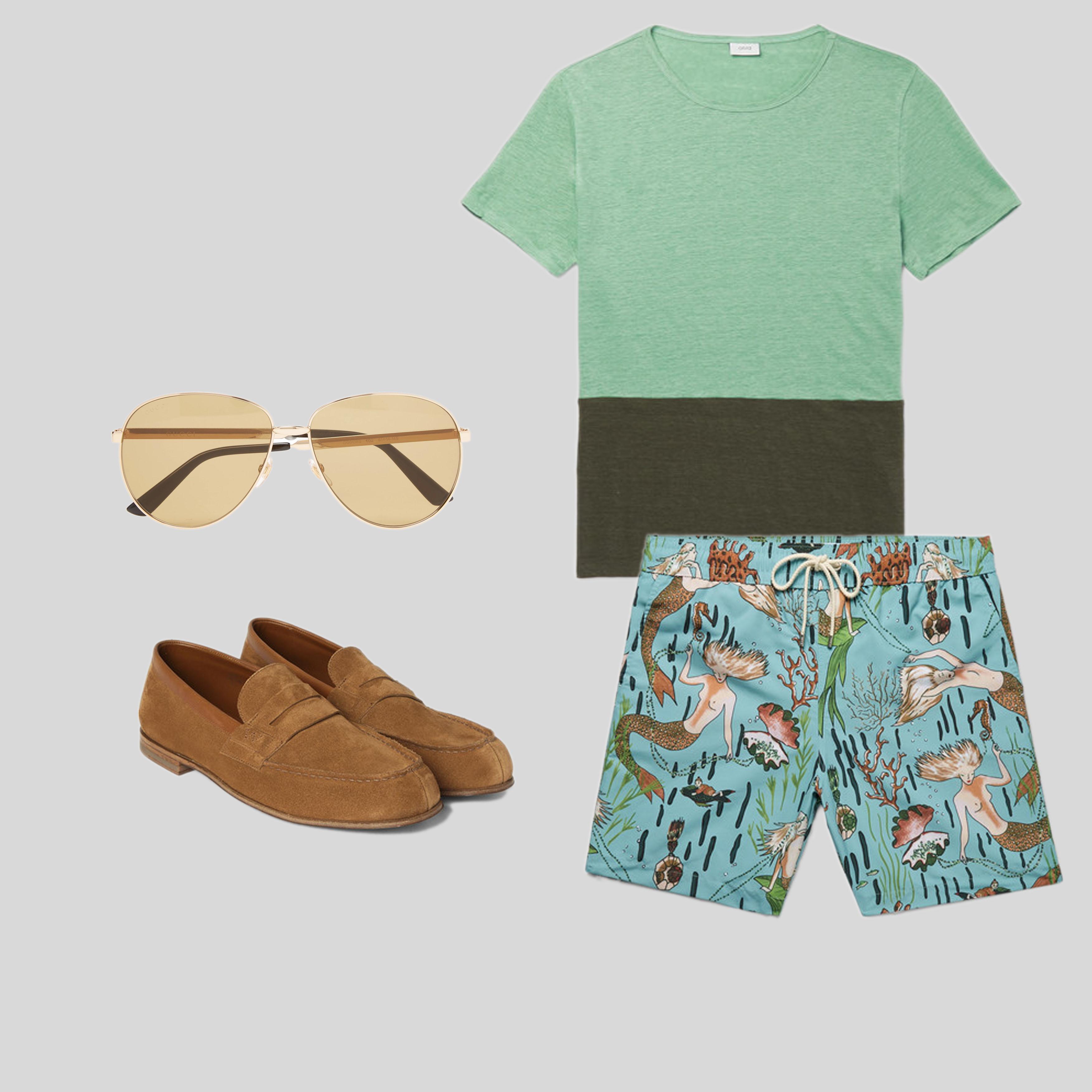 ELLE Man Style Calendar 'F5' phong cách với chiếc quần short đi biển. (5)