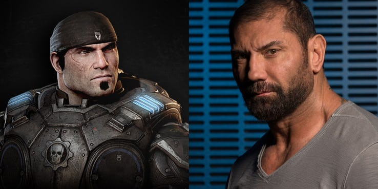 Cựu sao WWE Dave Bautista muốn đóng phim Gears of War