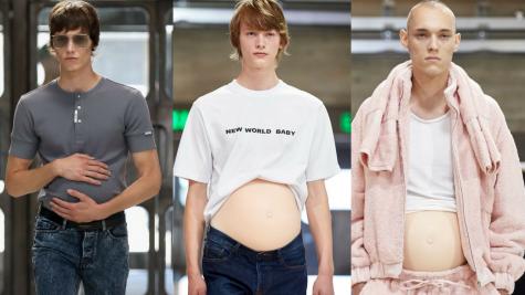 """""""Đàn ông có bầu"""" - Xu hướng mới trên sàn diễn thời trang?"""