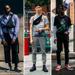 """Túi đeo chéo """"chiếm lĩnh"""" street style tại London Fashion Week Men's 2019"""