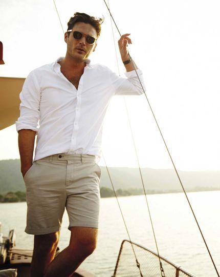 ELLE Man Style Calendar Bảy ngày hoàn hảo với áo sơ mi trắng linen. (15)