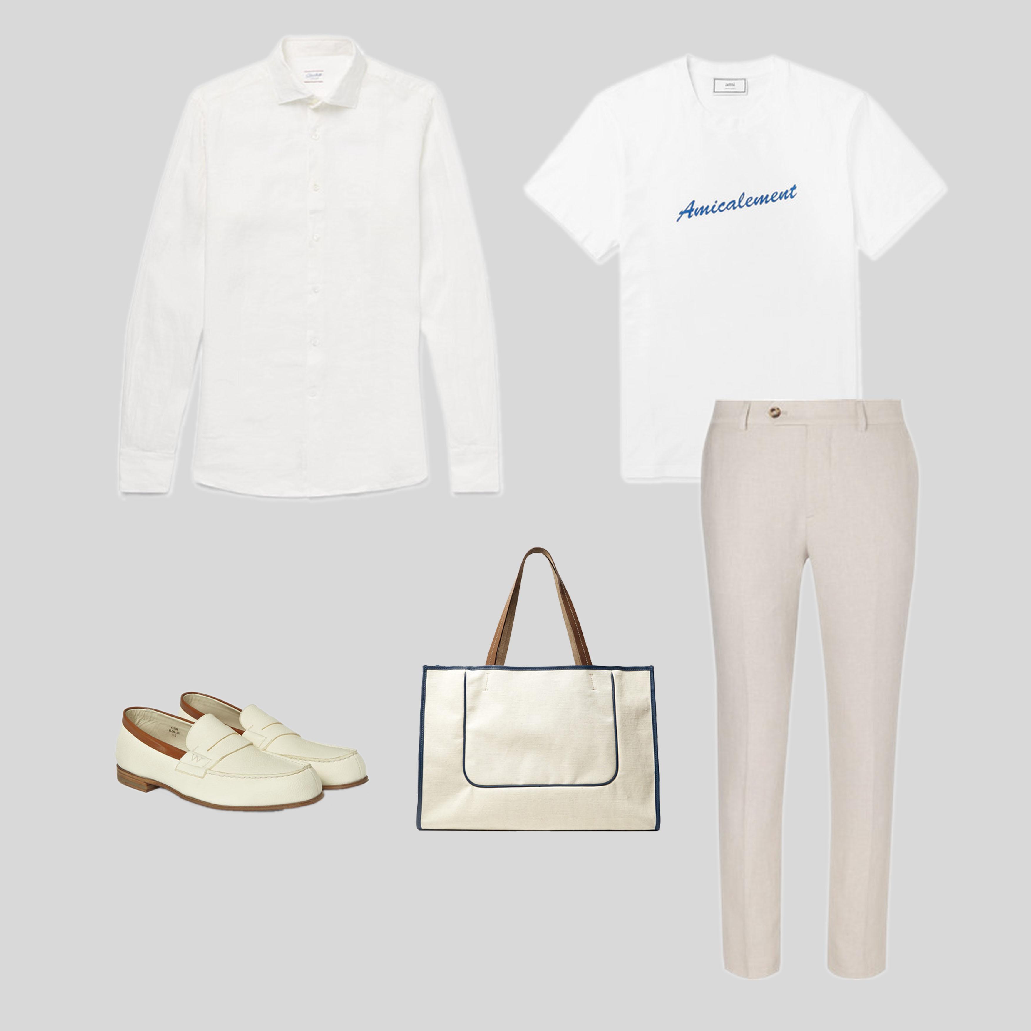 ELLE Man Style Calendar Bảy ngày hoàn hảo với áo sơ mi trắng linen. (2)