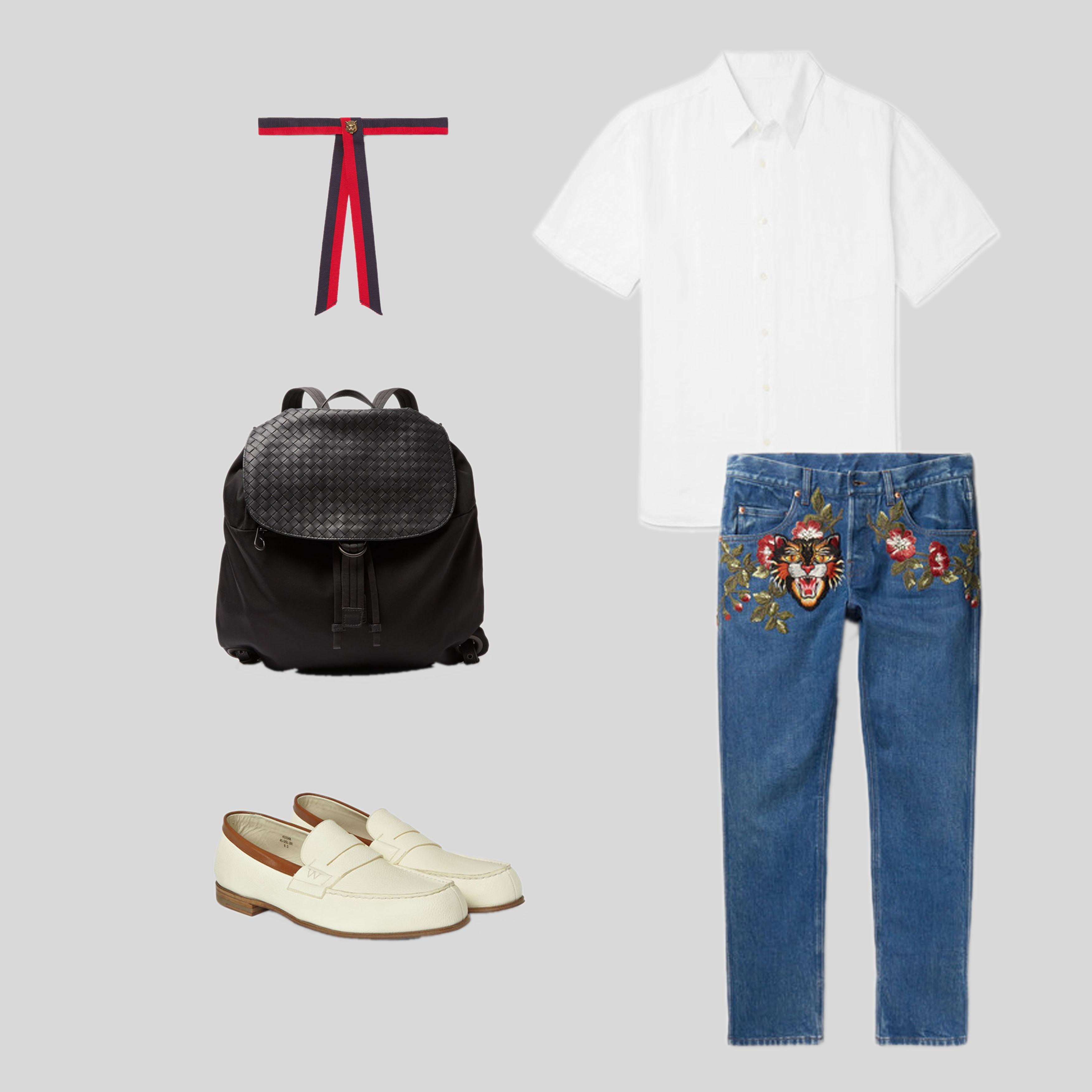 ELLE Man Style Calendar Bảy ngày hoàn hảo với áo sơ mi trắng linen. (8)