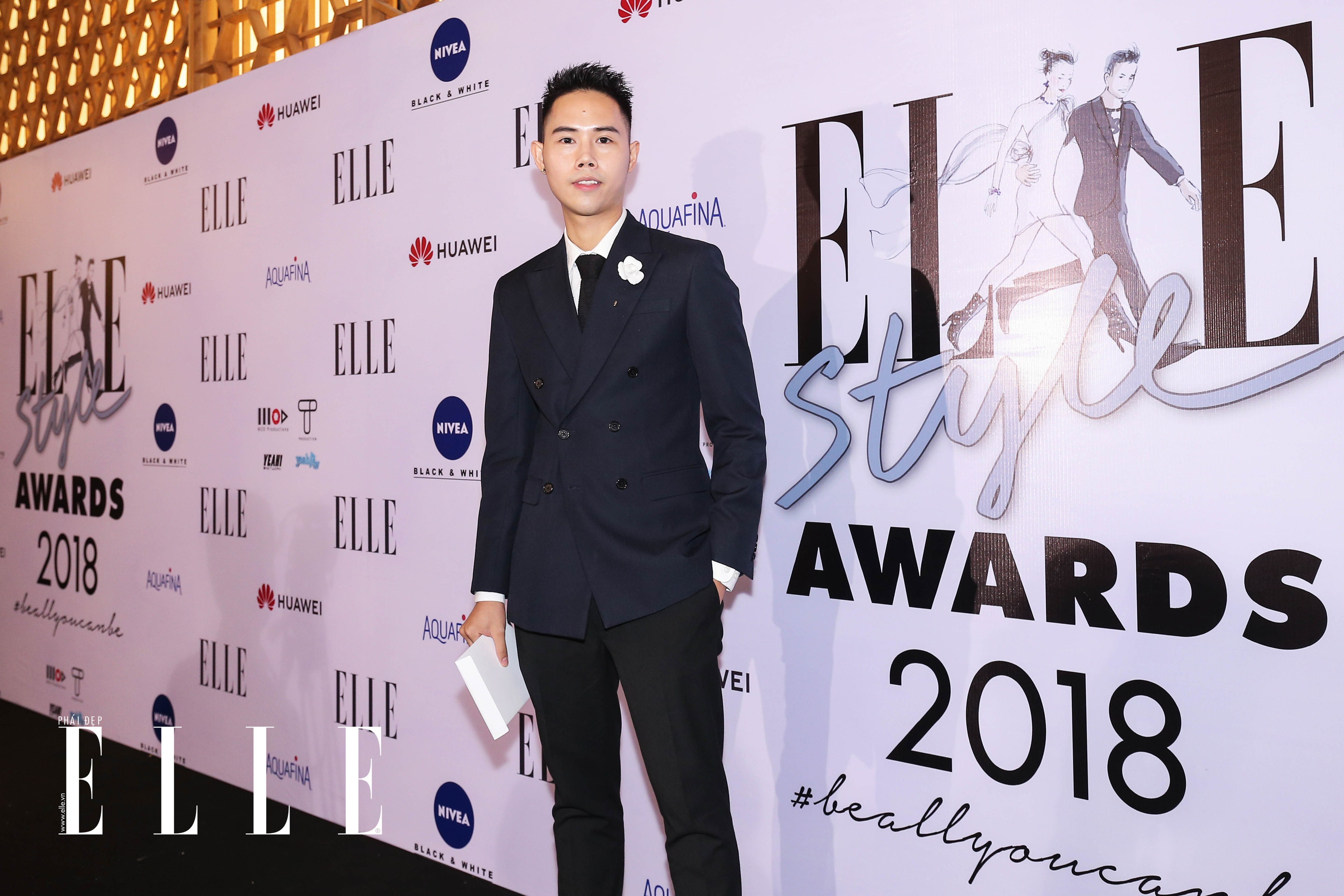 Nhà thiết kế Lâm Gia Khang  tại ELLE Style Awards 2018