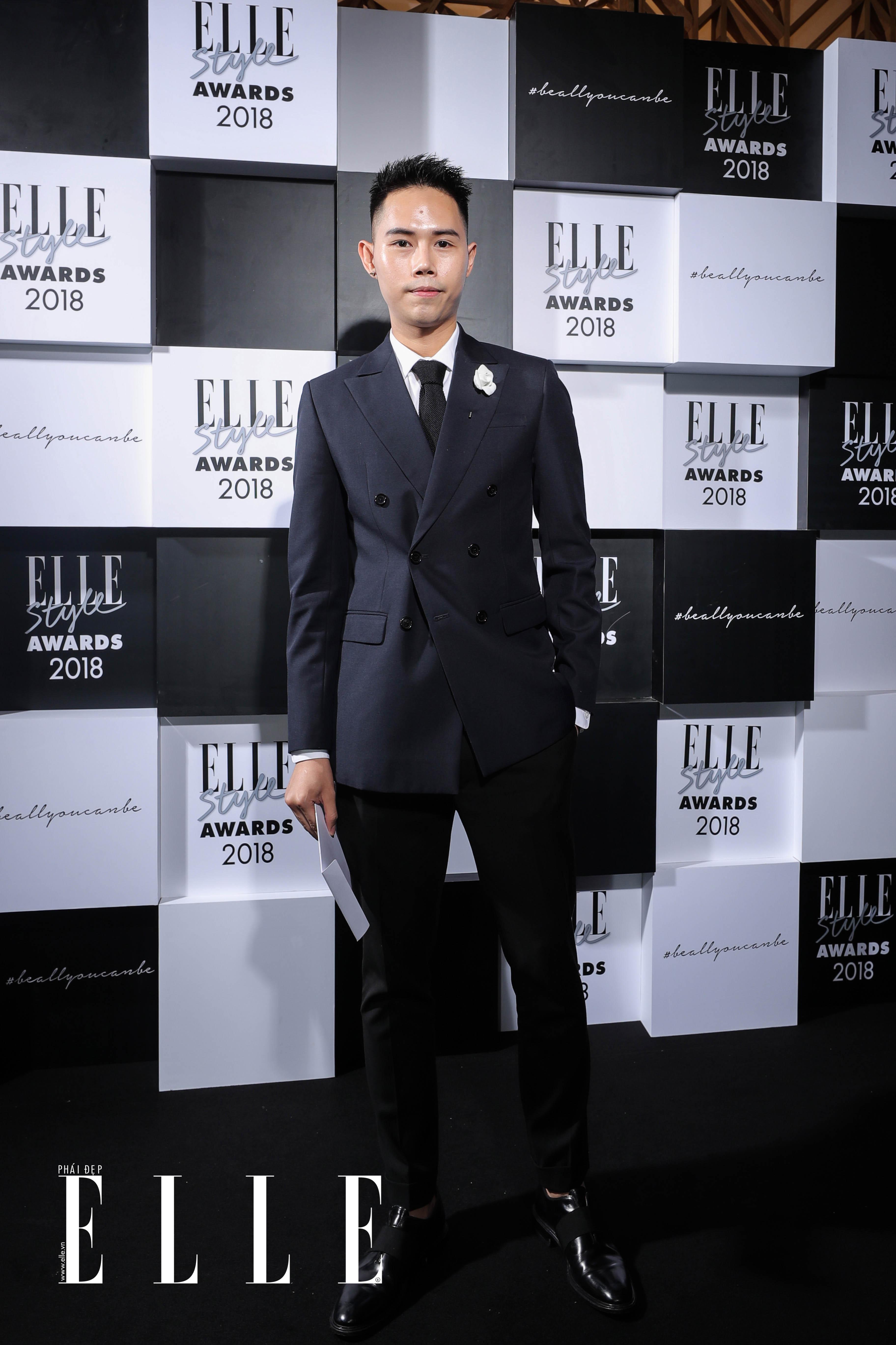 Nhà thiết kế Lâm Gia Khang tại lễ trao giải ELLE Style Awards 2018