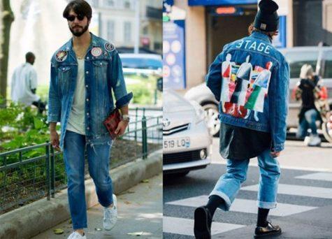 Có thể kết hợp một số denim jacket có họa tiết để tạo nên sự độc đáo, cá tính. Ảnh: D'Marge