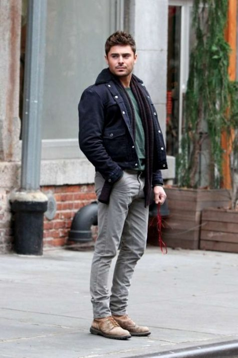 Nhiều nghệ sĩ đình đám của chọn jeans xám đi cùng giày boot nâu để tạo nên sự thanh lịch và sang trọng. Ảnh: Grant Barrett