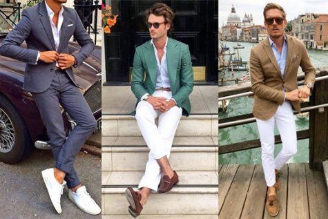 Nhiều chàng trai e ngại mặc suit mùa Hè vì thời tiết nóng bức. Ảnh: Man of Many