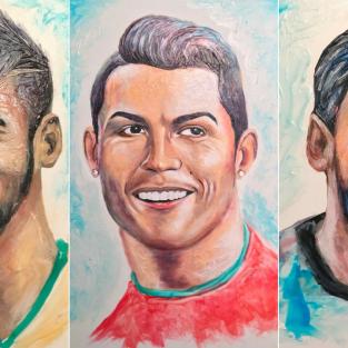 Ngắm nhìn các tác phẩm tranh vẽ cầu thủ bóng đá từ... kem đánh răng