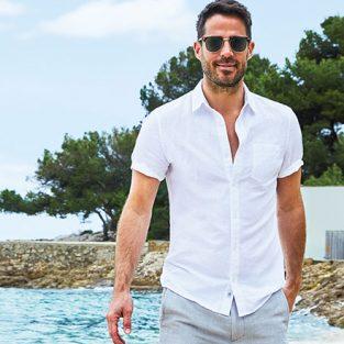 Câu chuyện chăm sóc quần áo trắng nam giới mùa Hè