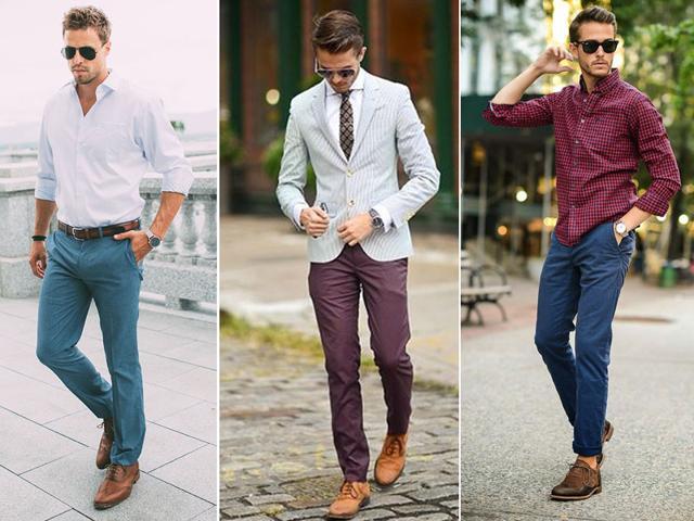Màu sắc đa dạng khiến quần chinos tạo nên phong cách mới mẻ cho những quý ông muốn thay đổi bản thân. Ảnh: The Manly Condition