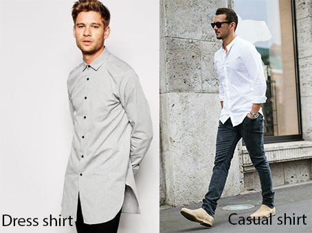 dress and casual shirt - elle man