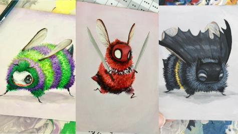 Ngắm nhìn tranh vẽ nghệ thuật của những siêu anh hùng... ong