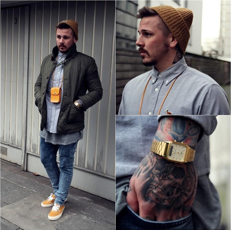 Dù hướng đến phong cách bụi bặm nhưng chiếc đồng hồ vẫn mang thể hiện sự thanh lịch cho các quý ông. Ảnh: Lookbook.nu