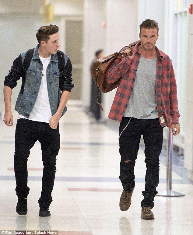 quan jeans rach & ao so mi flannel - david - elle man 2