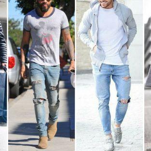 """Quần jeans rách: 7 bản phối kinh điển """"vượt thời gian"""""""