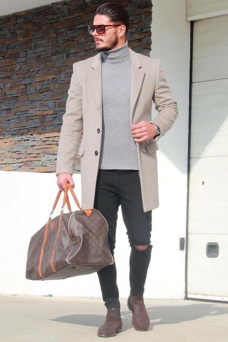 quan jeans rach & overcoat - elle man 1