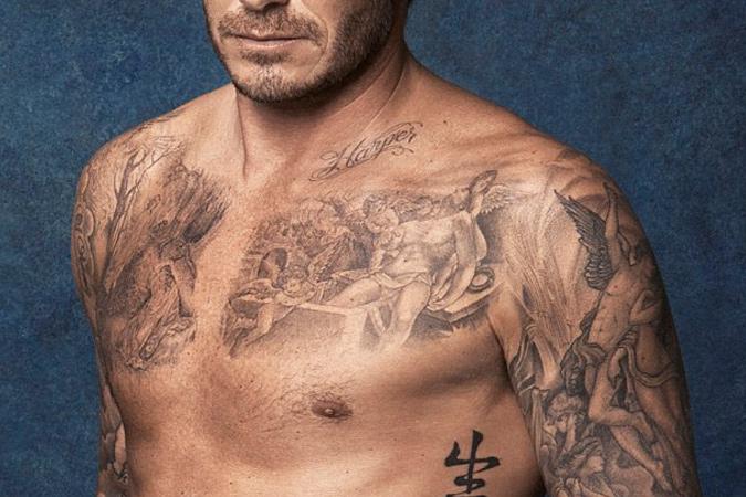 hình xăm của David Beckham - elle man (4)