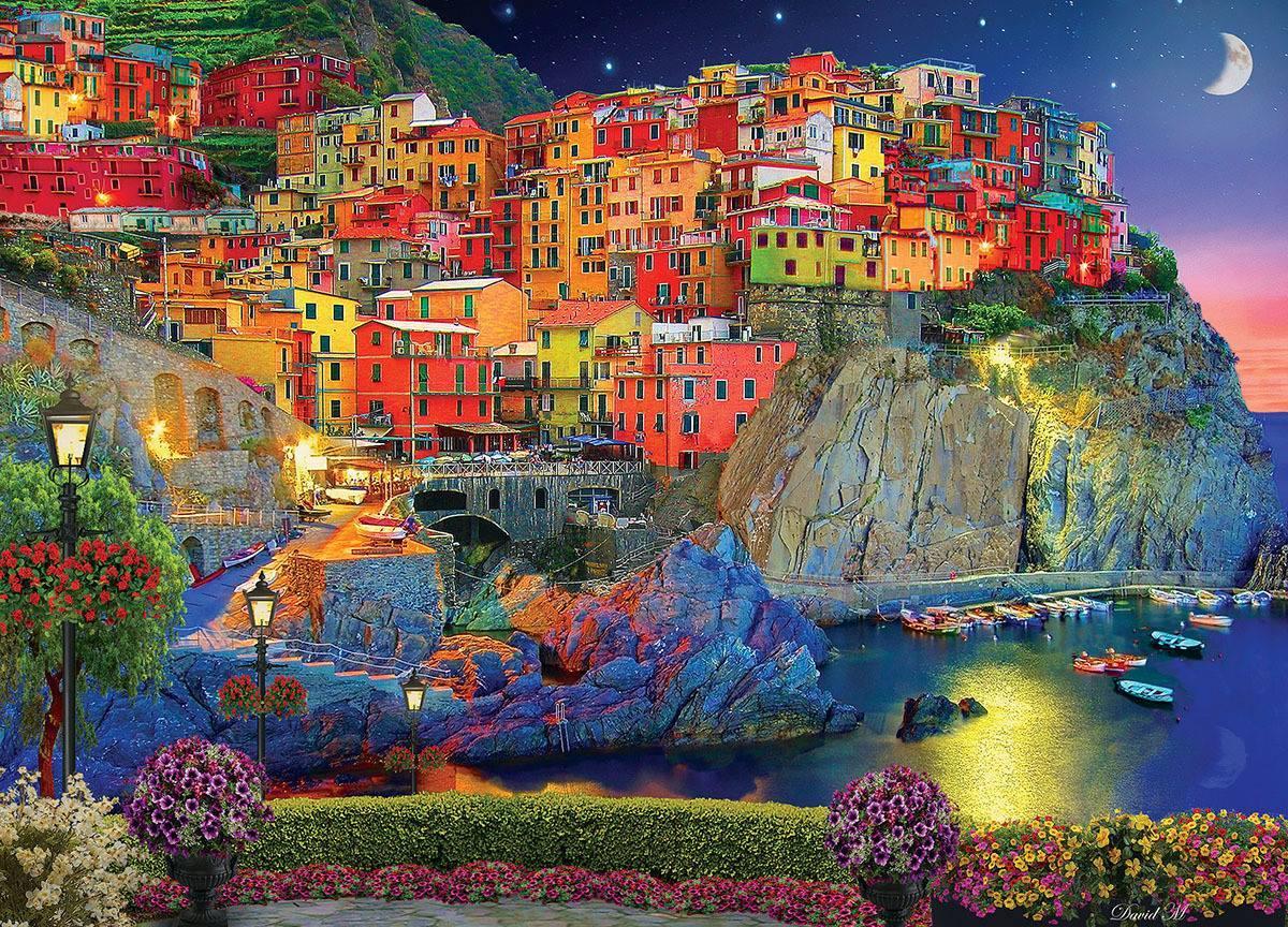 Ngôi làng trở nên sinh động đầy màu sắc như bước ra từ một trang truyện cổ tích Châu Âu. Ảnh: Serious Puzzles