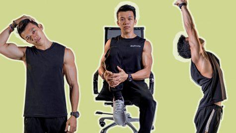 4 bài tập thể dục giãn cơ cho chàng trai công sở bận rộn