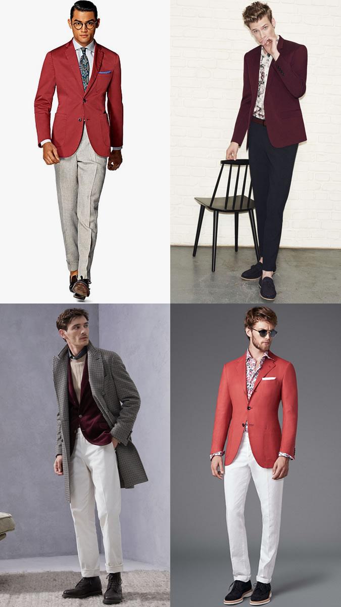 Áo blazer đỏ mang đến cảm hứng phối đồ thanh lịch. Ảnh: Fashionbeans