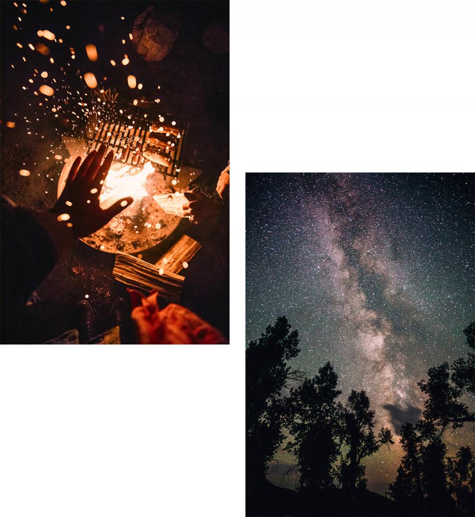 Những đêm hè vui nhộn đầy trăng và sao. Miền Tây nước Mỹ vốn cũng rực rỡ và đầy màu sắc. Ảnh: André Josselin