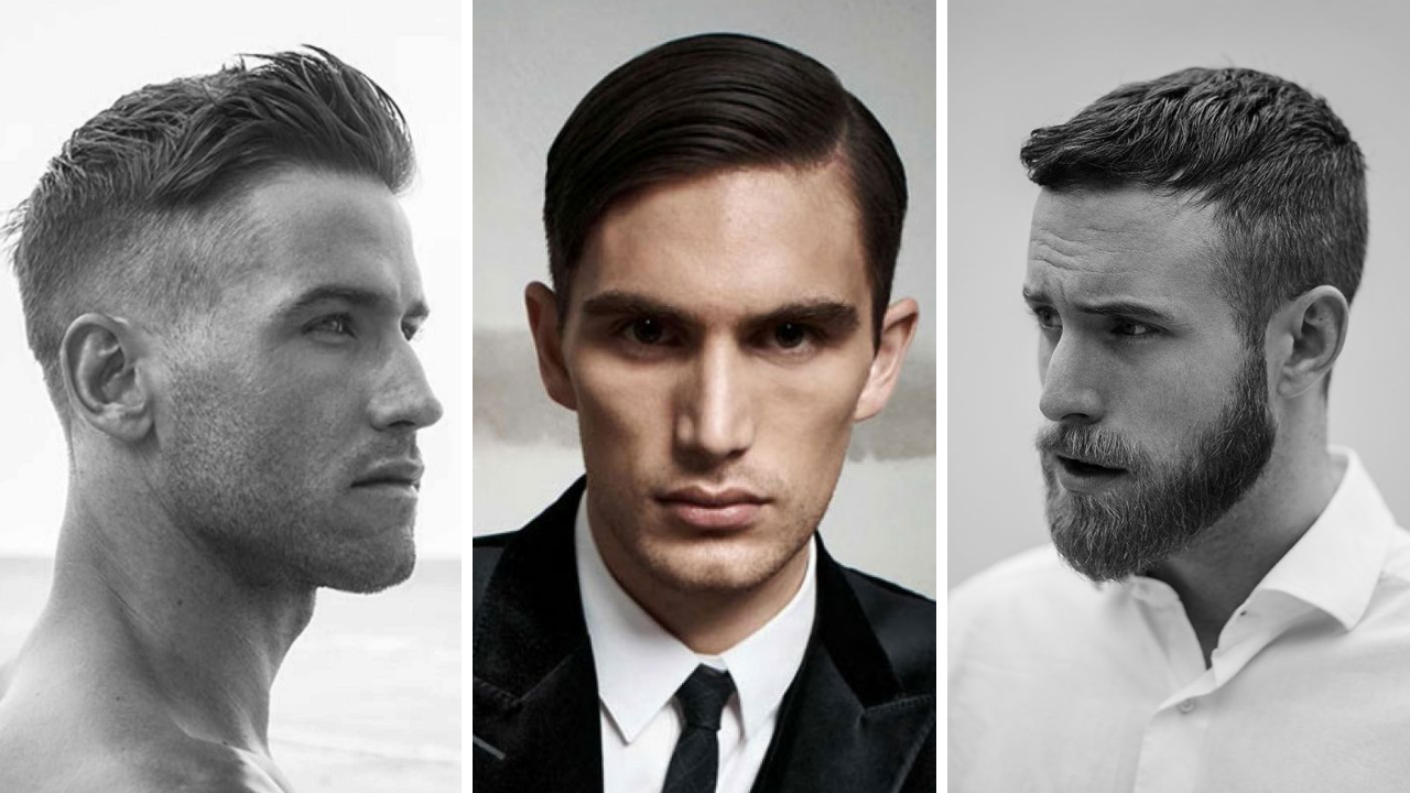 Slick Back - Slide Parting - French Crop. Ảnh: Medium Hair Styles Ideas, Pinterest, Men and Women Hairstyles Gallery