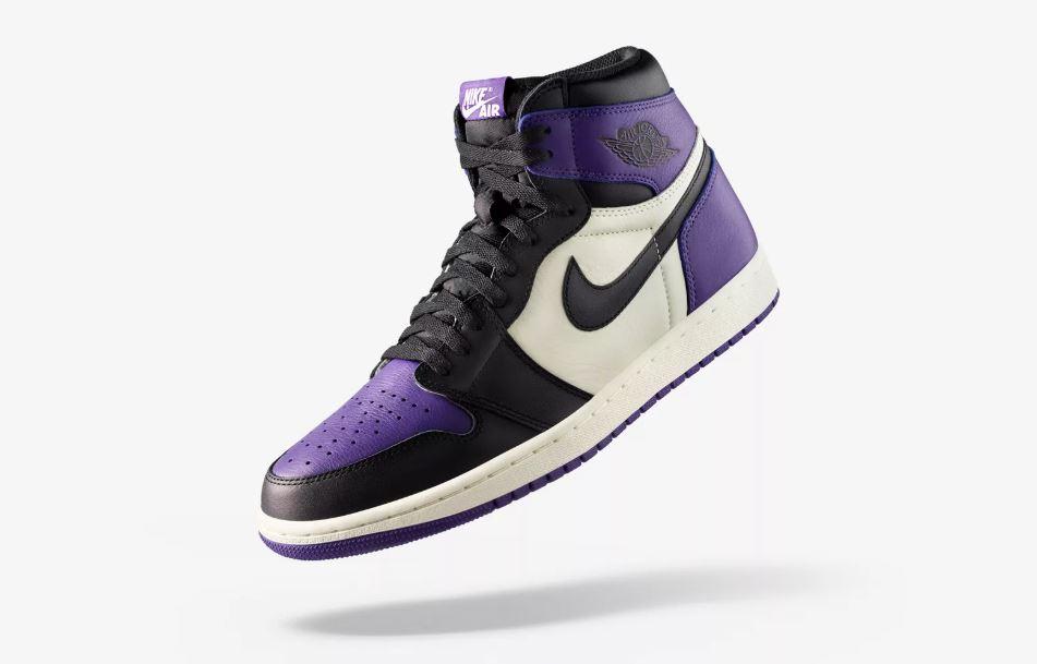 "giay theo thao dat nhat q3.2018 - Nike Air Jordan 1 ""Court Purple"" - elle man"