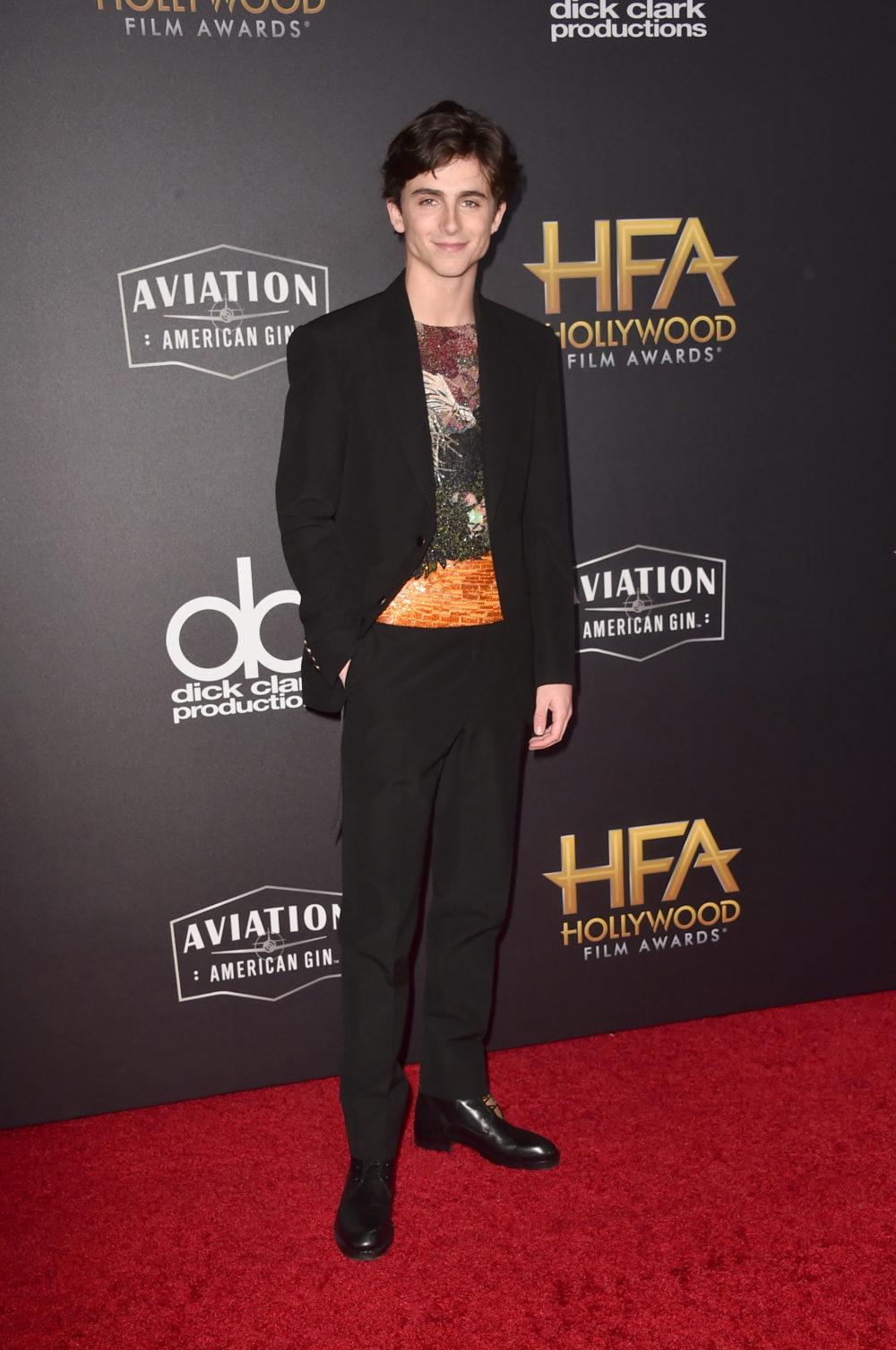 Timothée Chalamet nhiều lần góp mặt trong top thời trang sao nam ấn tượng của ELLE Man. Ảnh: USA Today