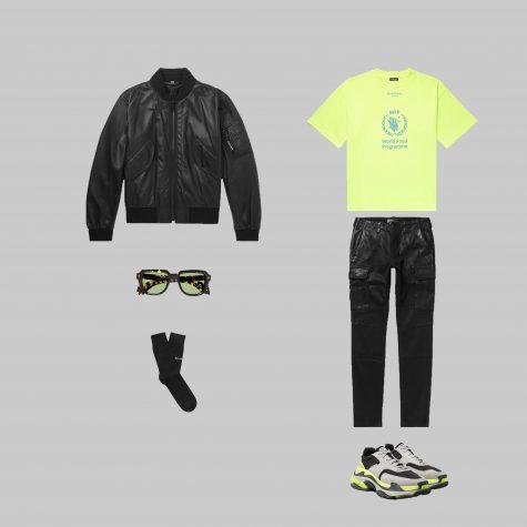 Áo - Tất - Giày: Balenciaga / Quần: Amiri / Kính: Hopper / Khoác: Burberry