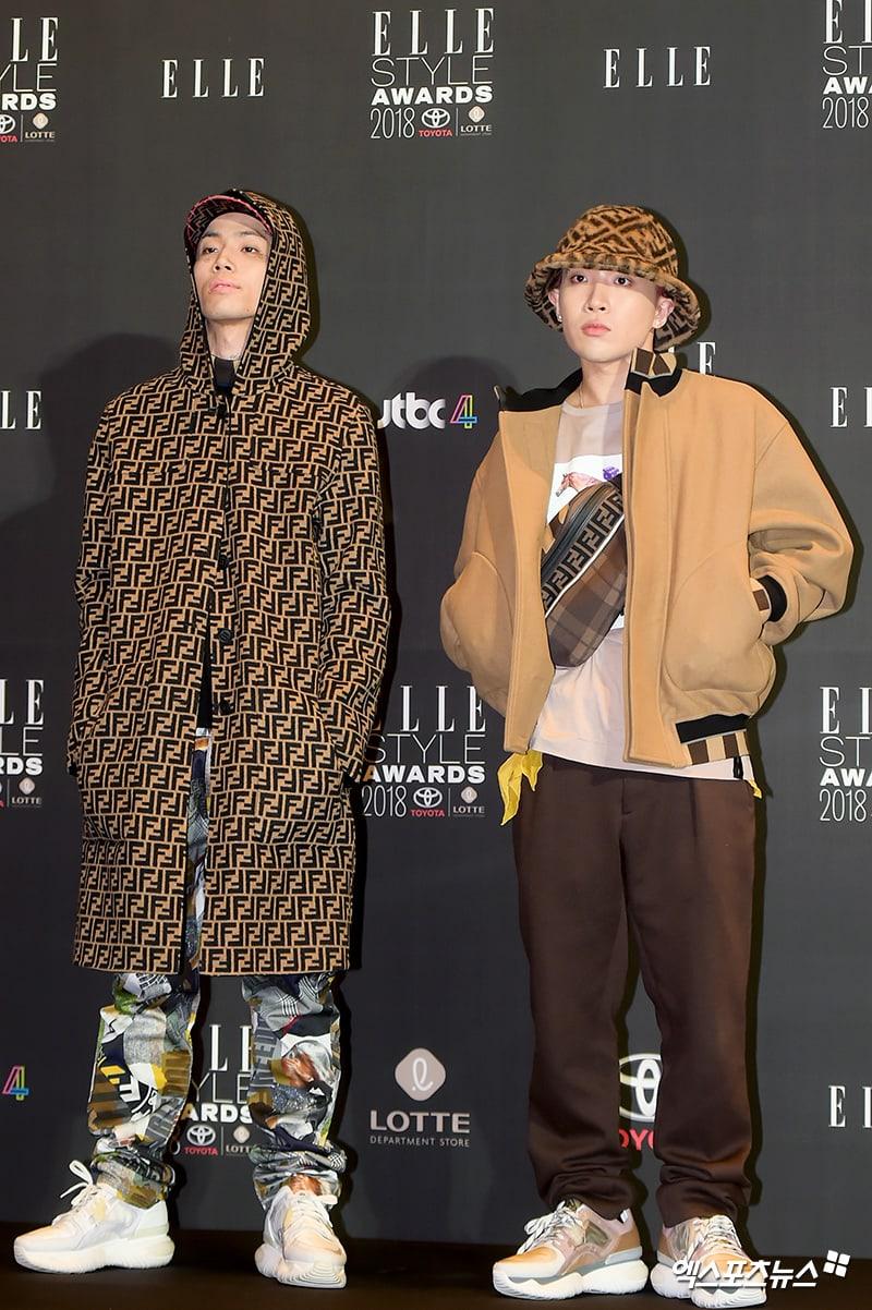 Hai outfit nổi bật trong lễ trao giải ELLE Style Awards 2018 của Hàn Quốc. Ảnh: Soompi