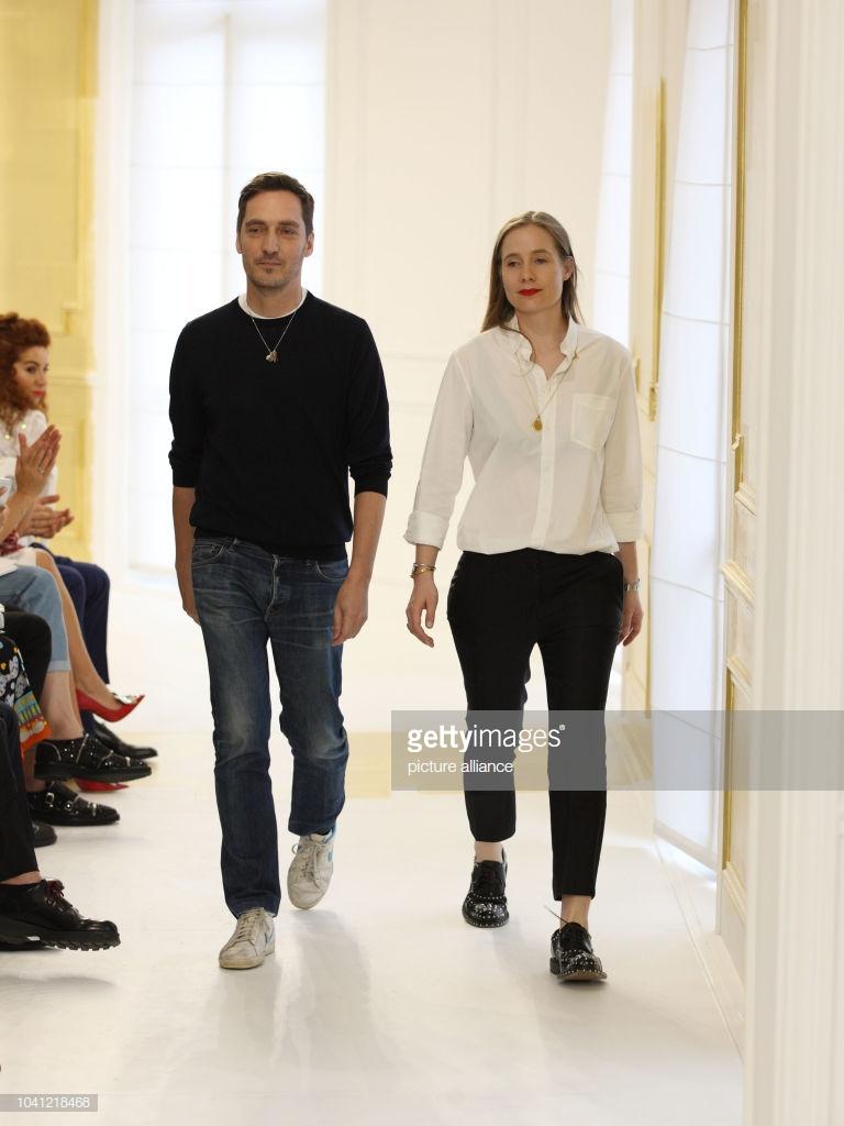 Serge Ruffieu và and Lucie Meier khi còn gắn bó tại Dior. Ảnh: Getty Images