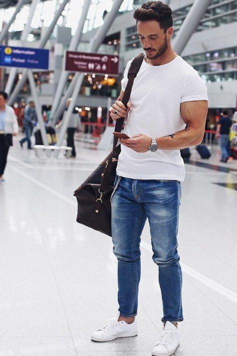 phong cách thời trang sân bay elle man 10