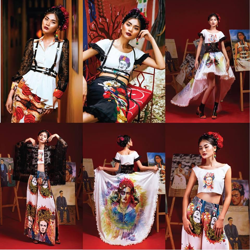 Bài thi của bạn Hoang Dung Tu – London College of Fashion Design năm 2016. Ảnh: ELLE Việt Nam