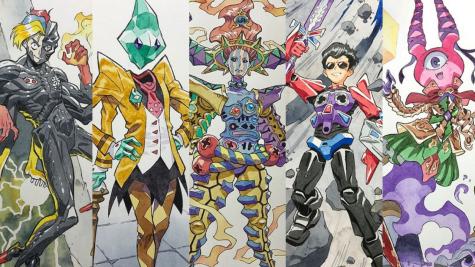 Ông bố biến những bức tranh nguệch ngoặc của con thành những tác phẩm nghệ thuật anime tuyệt đẹp