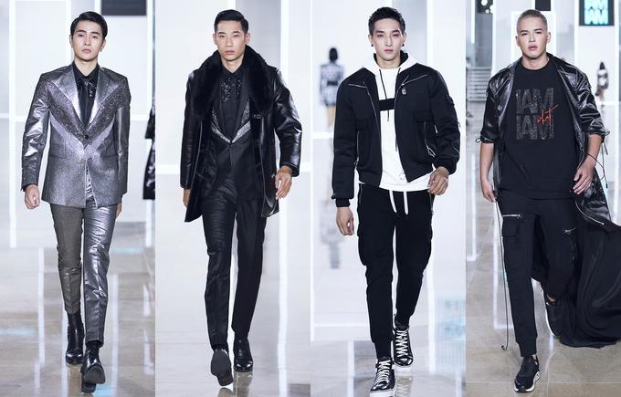 Ở phân khúc thời trang nam, Chung Thanh Phong có xen thêm một số bộ suit thanh lịch kèm theo áo khoác lông thú đúng vào dịp Thu-Đông 2018. Ảnh: VNExpress